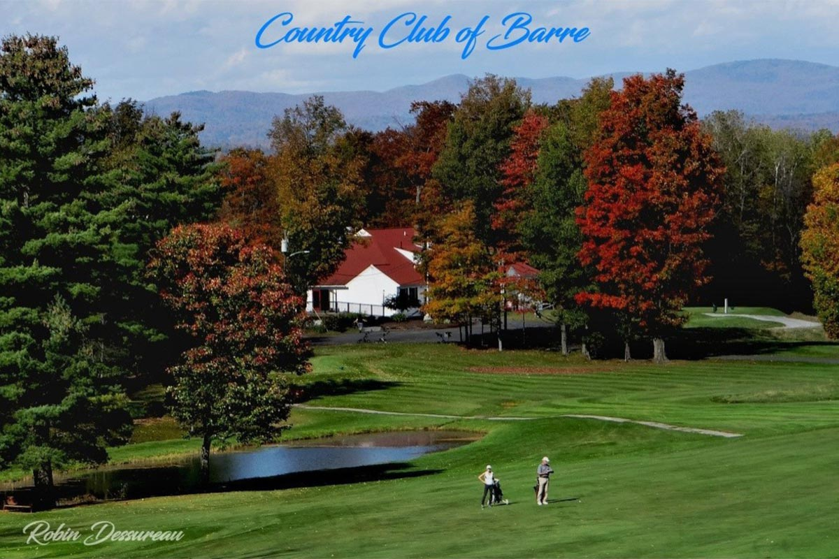 Country Club of Barre golf course and clubhouse in Vermont - photo by Robin Dessureau