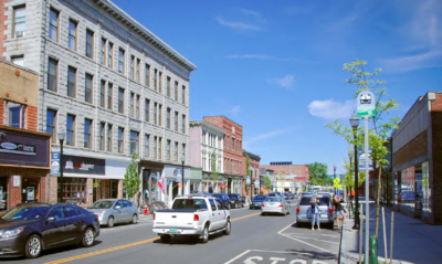 North Main St. business district Barre, VT
