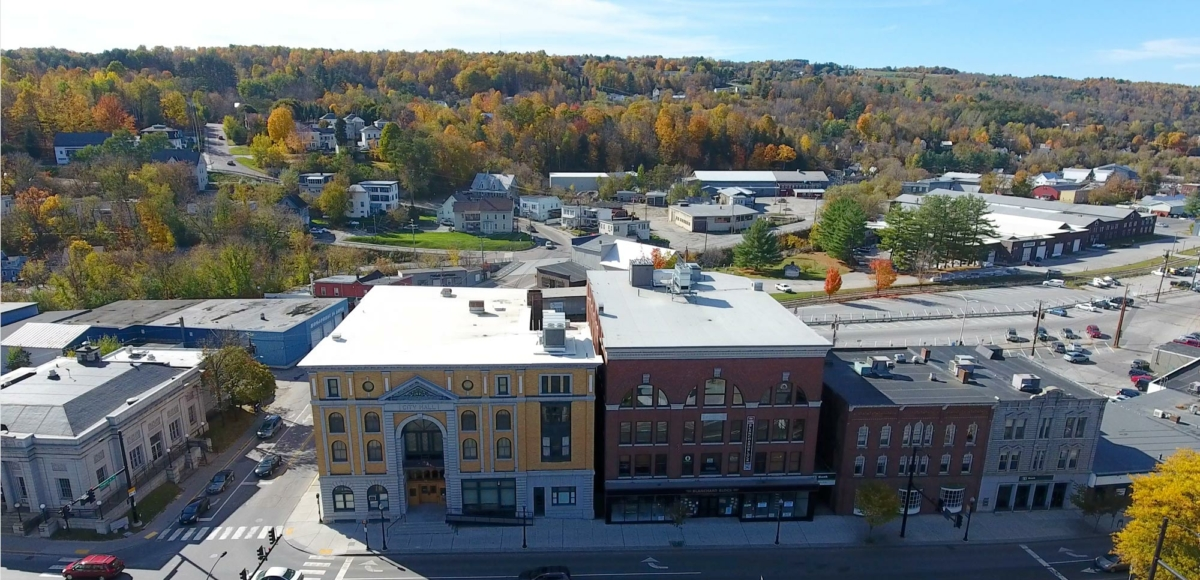 Main St. buildings in Downtown Barre, VT.